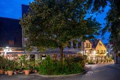 Τοπίο νύχτας της πόλης της Νυρεμβέργης. Στοκ φωτογραφία με δικαίωμα ελεύθερης χρήσης