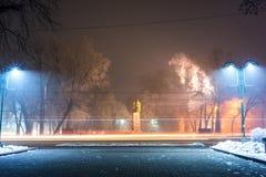 Τοπίο νύχτας Winter Park Στοκ Εικόνα