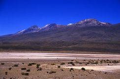 Τοπίο ορεινών περιοχών στο Περού Στοκ φωτογραφία με δικαίωμα ελεύθερης χρήσης