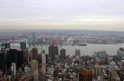 Τοπίο οριζόντων πόλεων της Νέας Υόρκης Στοκ Εικόνες