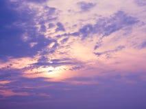 Τοπίο ουρανού Phlueng Khao Στοκ Εικόνες