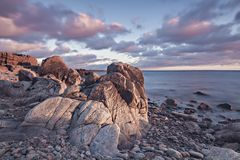 Τοπίο πάρκων φύσης Kullaberg Στοκ φωτογραφία με δικαίωμα ελεύθερης χρήσης