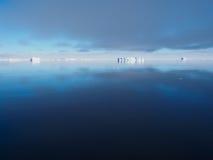 Τοπίο παγόβουνων της Ανταρκτικής Στοκ Εικόνα