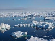 Τοπίο παγόβουνων της Ανταρκτικής Στοκ Εικόνες