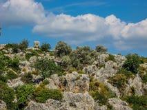 Τοπίο παραλιών βουνών Στοκ εικόνες με δικαίωμα ελεύθερης χρήσης