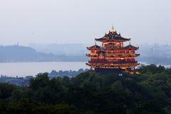 Τοπίο περίπτερων Chenghuang Hangzhou Στοκ εικόνες με δικαίωμα ελεύθερης χρήσης