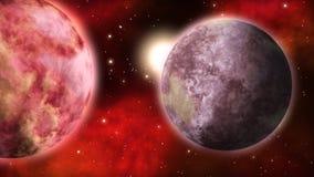Τοπίο πλανητών βρόχος διανυσματική απεικόνιση
