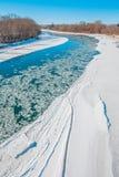 Τοπίο πορτρέτου του παγωμένου νερού Στοκ φωτογραφίες με δικαίωμα ελεύθερης χρήσης