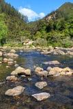 Τοπίο ποταμών της Νέας Ζηλανδίας Ποταμός Ohinemuri, φαράγγι Karangahake στοκ εικόνα με δικαίωμα ελεύθερης χρήσης