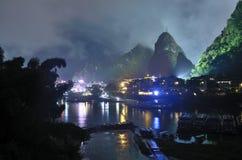 Τοπίο ποταμών Lijiang Yangshuo Στοκ φωτογραφίες με δικαίωμα ελεύθερης χρήσης