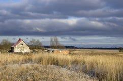 Τοπίο πτώσης στη ρωσική επαρχία Στοκ Εικόνες