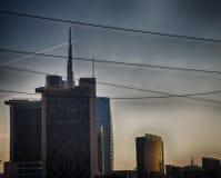 Τοπίο πόλεων με τα ψηλά κτίρια στοκ εικόνες