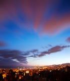Τοπίο πόλεων νύχτας Στοκ φωτογραφία με δικαίωμα ελεύθερης χρήσης