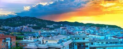 Τοπίο πόλεων στην ανατολή de lloret χαλά την Ισπανία Στοκ Φωτογραφία