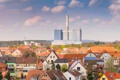 Τοπίο πόλεων με τις στέγες Στοκ εικόνες με δικαίωμα ελεύθερης χρήσης