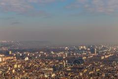 Τοπίο πόλεων στην πόλη της Λυών Στοκ φωτογραφία με δικαίωμα ελεύθερης χρήσης