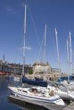 Τοπίο πόλεων στη Νορμανδία Γαλλία το καλοκαίρι Στοκ εικόνες με δικαίωμα ελεύθερης χρήσης