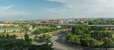 Τοπίο πόλεων του Surabaya Στοκ εικόνα με δικαίωμα ελεύθερης χρήσης