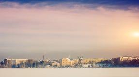 Τοπίο πόλεων το χειμώνα Στοκ φωτογραφίες με δικαίωμα ελεύθερης χρήσης