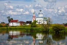 Τοπίο Ρωσία Σούζνταλ Καλοκαίρι Στοκ Εικόνες