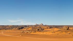 τοπίο Σαχάρας βουνών της Λιβύης akakus Στοκ εικόνα με δικαίωμα ελεύθερης χρήσης