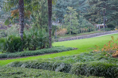 Τοπίο σε ένα όμορφο εξωτικό πάρκο Στοκ εικόνα με δικαίωμα ελεύθερης χρήσης