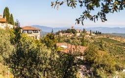 Τοπίο σε Chianti Ιταλία Στοκ εικόνες με δικαίωμα ελεύθερης χρήσης