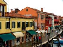 Τοπίο σε Murano, Ιταλία, σε μια βροχερή ημέρα Στοκ φωτογραφία με δικαίωμα ελεύθερης χρήσης
