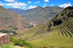 Τοπίο σε Pisac στην κοιλάδα Urubamba στοκ εικόνες με δικαίωμα ελεύθερης χρήσης