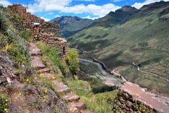 Τοπίο σε Pisac στην κοιλάδα Urubamba στοκ εικόνα με δικαίωμα ελεύθερης χρήσης