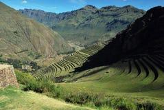 Τοπίο σε Pisac στην κοιλάδα Urubamba στοκ φωτογραφία