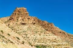 Τοπίο σε Toujane, ένα ορεινό χωριό Berber στη νότια Τυνησία Στοκ εικόνα με δικαίωμα ελεύθερης χρήσης