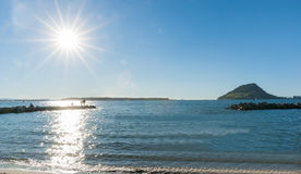 Τοπίο σημείου θείου, Tauranga Στοκ φωτογραφίες με δικαίωμα ελεύθερης χρήσης