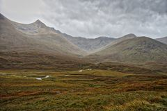 τοπίο σκωτσέζικα ορεινών & Στοκ Φωτογραφία