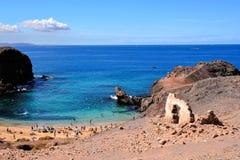 Τοπίο στα τροπικά ηφαιστειακά Κανάρια νησιά Ισπανία Στοκ εικόνα με δικαίωμα ελεύθερης χρήσης