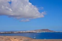 Τοπίο στα τροπικά ηφαιστειακά Κανάρια νησιά Ισπανία Στοκ Εικόνα