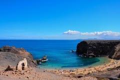 Τοπίο στα τροπικά ηφαιστειακά Κανάρια νησιά Ισπανία Στοκ φωτογραφίες με δικαίωμα ελεύθερης χρήσης