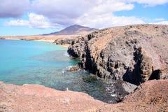 Τοπίο στα τροπικά ηφαιστειακά Κανάρια νησιά Ισπανία Στοκ Εικόνες