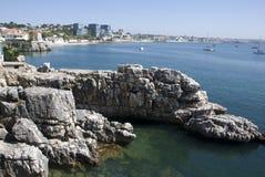 Τοπίο στην ακτή των cascais, Πορτογαλία Στοκ φωτογραφία με δικαίωμα ελεύθερης χρήσης