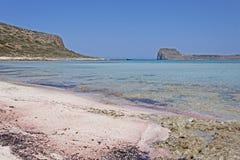 Τοπίο στη λιμνοθάλασσα Balos στην Κρήτη Στοκ Εικόνες