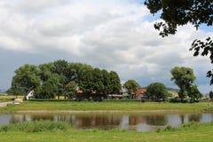 Τοπίο στον ποταμό Στοκ Εικόνα