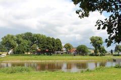 Τοπίο στον ποταμό Weser Στοκ φωτογραφία με δικαίωμα ελεύθερης χρήσης
