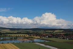 Τοπίο στον ποταμό Weser Στοκ Εικόνα
