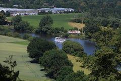Τοπίο στον ποταμό Weser Στοκ εικόνες με δικαίωμα ελεύθερης χρήσης