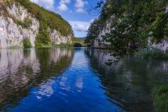Τοπίο στο εθνικό πάρκο λιμνών Plitvice Στοκ Εικόνες
