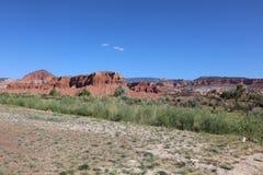 Τοπίο στο εθνικό πάρκο σκοπέλων Capitol Utah Στοκ Φωτογραφία