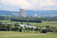 Τοπίο στο πυρηνικό σταθμό Grohnde Στοκ εικόνες με δικαίωμα ελεύθερης χρήσης