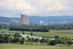 Τοπίο στο πυρηνικό σταθμό Grohnde Στοκ Εικόνα