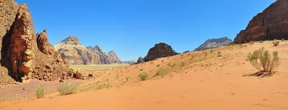 Τοπίο στο ρούμι Wadi Στοκ εικόνα με δικαίωμα ελεύθερης χρήσης