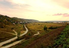 Τοπίο στο χωριό στοκ εικόνες